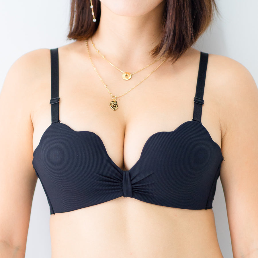 Sexy-Ribbon Wireless Push Up Bra