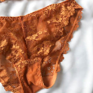 Blooming Love Lace Cheeky in Apricot