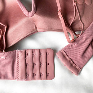 Lovely Bow Push Up Wireless Bra in Rose