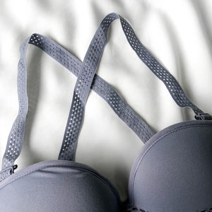 Fit Me! Strapless Push Up Wireless Bra in Powder Blue