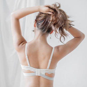 The Lacey Back Bloom Push Up Wireless Bra in Stripes (Size S & M only)
