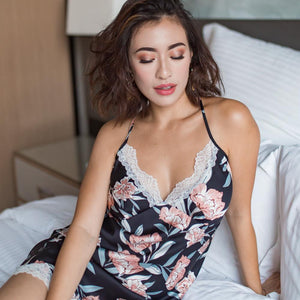 Sunkissed Glow! Slumberwear Nightgown in Black Beauty