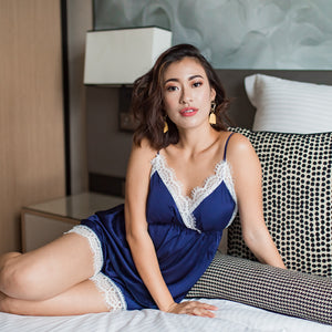 Catch A Wink! Slumberwear Set in Evening Blue