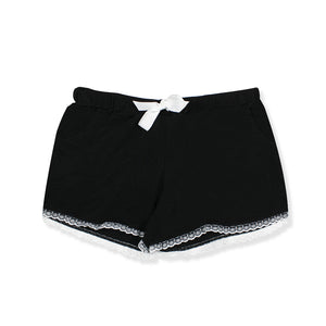 Raven Black Nylon Shorts - I'M IN  -  i m i n x x . c o m
