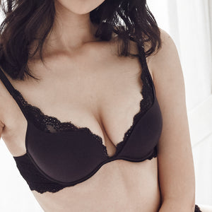 *RESTOCKED Carried Away Super Push Up Bra in Black (Size 32B & 36B ONLY)