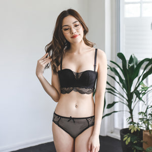 Perfect Match! Wireless Push Up Midi Bra in Black (Size L Only)