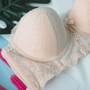 OH-SO-SEXY! 2-WAY PUSH UP BANDEAU STRAPLESS BRA IN VANILLA NUDE