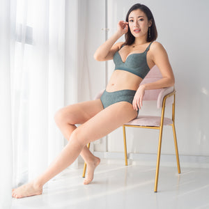Perfect Pixie Push Up Wireless Bra in Emerald