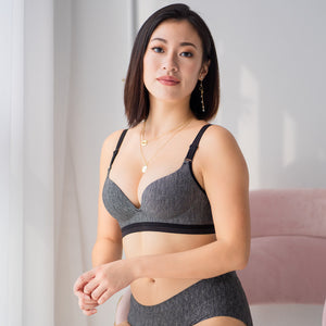 Perfect Pixie Push Up Wireless Bra in Dark Grey