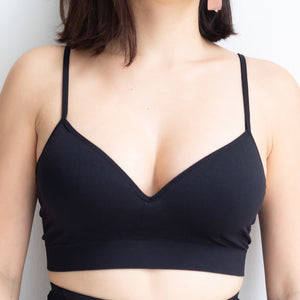 *RESTOCKED* Steal The Moment Wireless Bra in Black