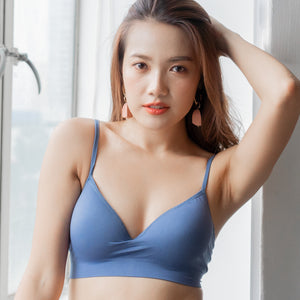 *RESTOCKED* Steal The Moment Wireless Bra in Blue
