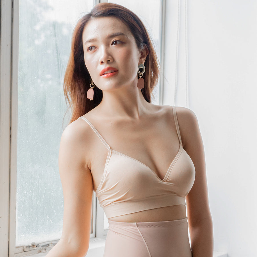 *RESTOCKED* Steal The Moment Wireless Bra in Nude
