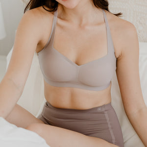 *BACKORDER OPEN* Air-ee Seamless Bra in Light Grey - Square Neck (Superfine Cotton)