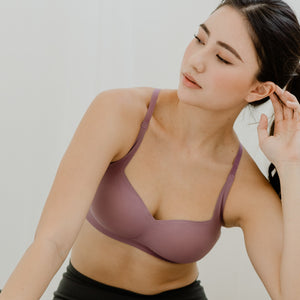 *BACKORDER OPEN* Air-ee Seamless Bra in Lilac - Square Neck (Superfine Cotton)