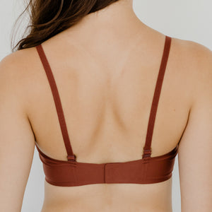 *BACKORDER OPEN* Air-ee Seamless Bra in Brick - Square Neck (Superfine Cotton)