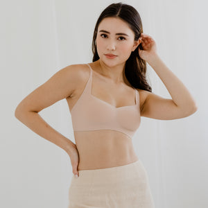 *BACKORDER OPEN* Air-ee Seamless Bra in Pinkish Nude - Square Neck (Superfine Cotton)
