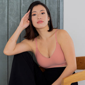 *RESTOCKED* Air-ee Bra in Peach - Thin Straps (Superfine Cotton)
