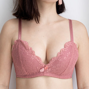 Redefined Comfort Lacey Wireless Bra in Warm Blush