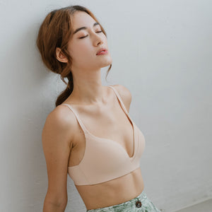 Everyday Comfort Seamless Wireless T-Shirt Bra in Nude