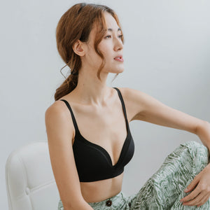 Everyday Comfort Seamless Wireless T-Shirt Bra in Black