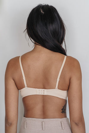 Basic Cotton Freedom Wireless Bra in Nude