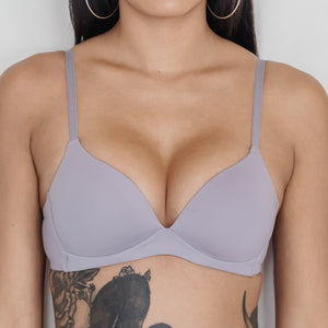 Basic Cotton Freedom Wireless Bra in Lilac