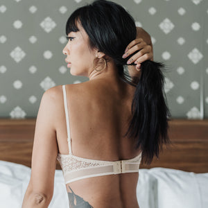 Essential Chic Low-Back Midi Wireless Bra in Nude