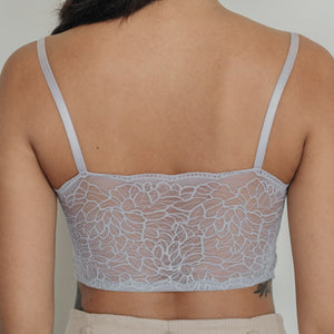 Essential Chic Sexy-Back Midi Bralette in Lavender Grey