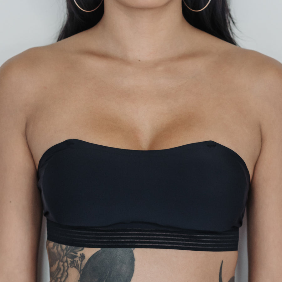 *BACKORDER OPEN* Essential Stylish Chic 2-Way Wireless Bandeau in Black