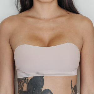 *BACKORDER OPEN* Essential Stylish Chic 2-Way Wireless Bandeau in Pink