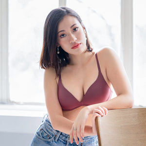 Everyday Staple Lightly-Lined Wireless Bra in Wine