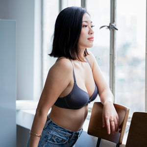 Everyday Staple Lightly-Lined Wireless Bra in Slate Grey