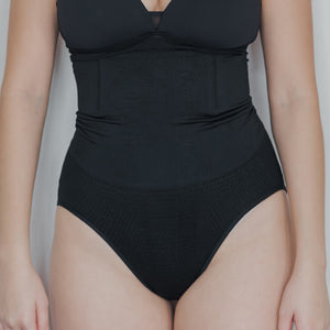 Ribbed High-waist Shapewear in Black
