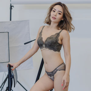 Lacey Curves Super Push Up Wireless Bra in Army Green