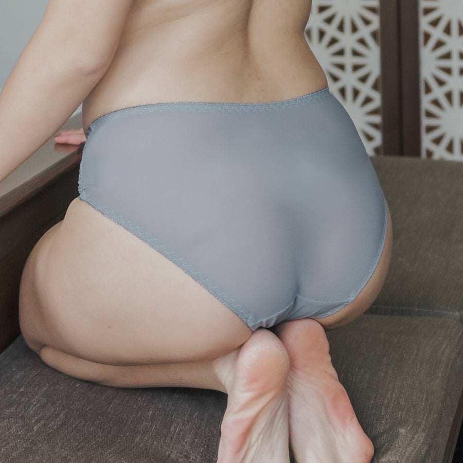 Twisted Knot! Mid-Rise Cheeky in Grey