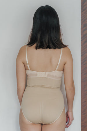 Ribbed High-waist Shapewear in Skin
