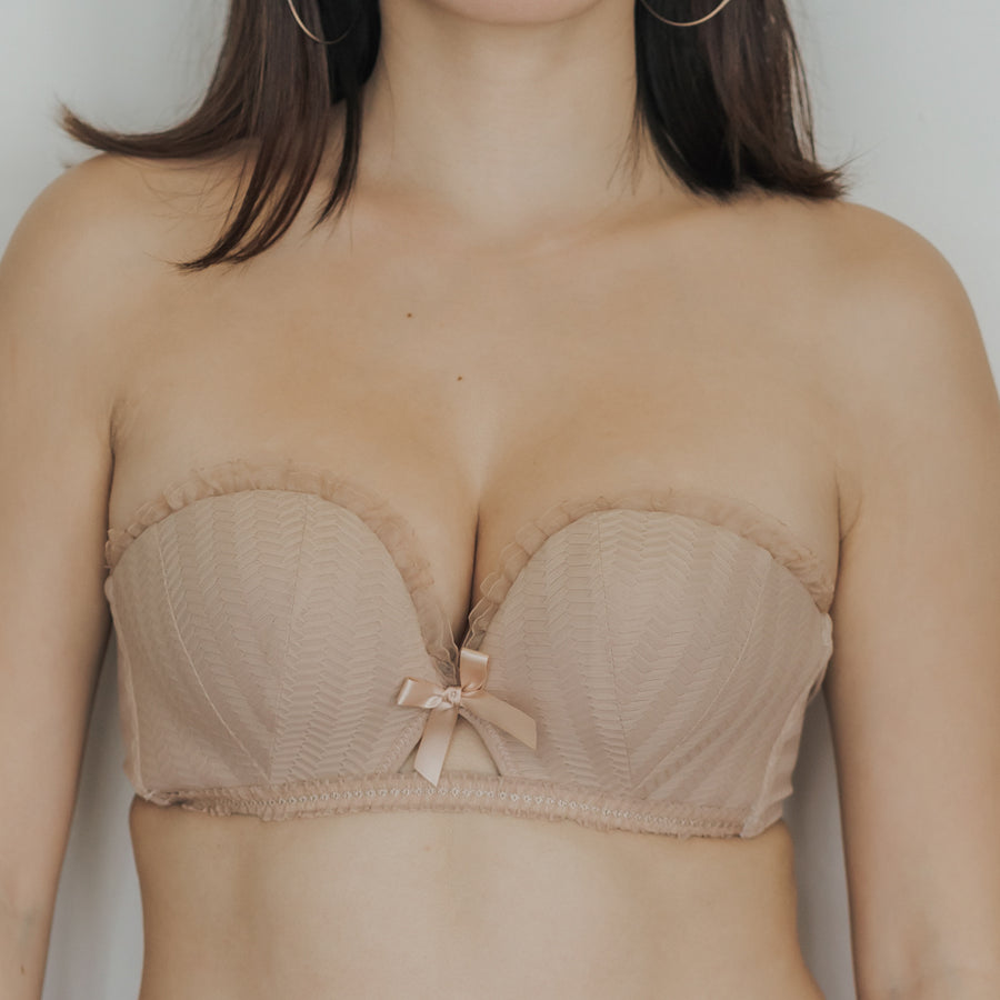 Sweetheart Multi-way Strapless Push Up Bra in Ivory Nude