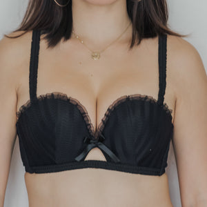 Sweetheart Multi-way Strapless Push Up Bra in Black