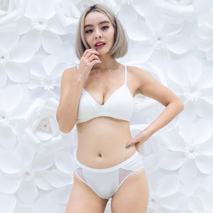 Lacey Maximum Comfort Wireless Bra in White