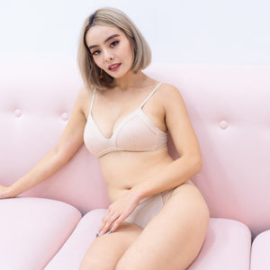 Lacey Maximum Comfort Wireless Bra in Nude