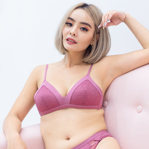 Lacey Maximum Comfort Wireless Bra in Rose