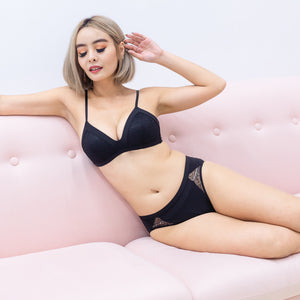Lacey Maximum Comfort Wireless Bra in Black