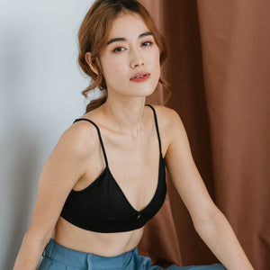 The Lazy Bralette in Black