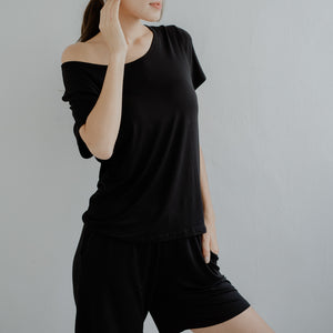 Everyday Bra-less Loungewear set (Modal® Fabric) in Black
