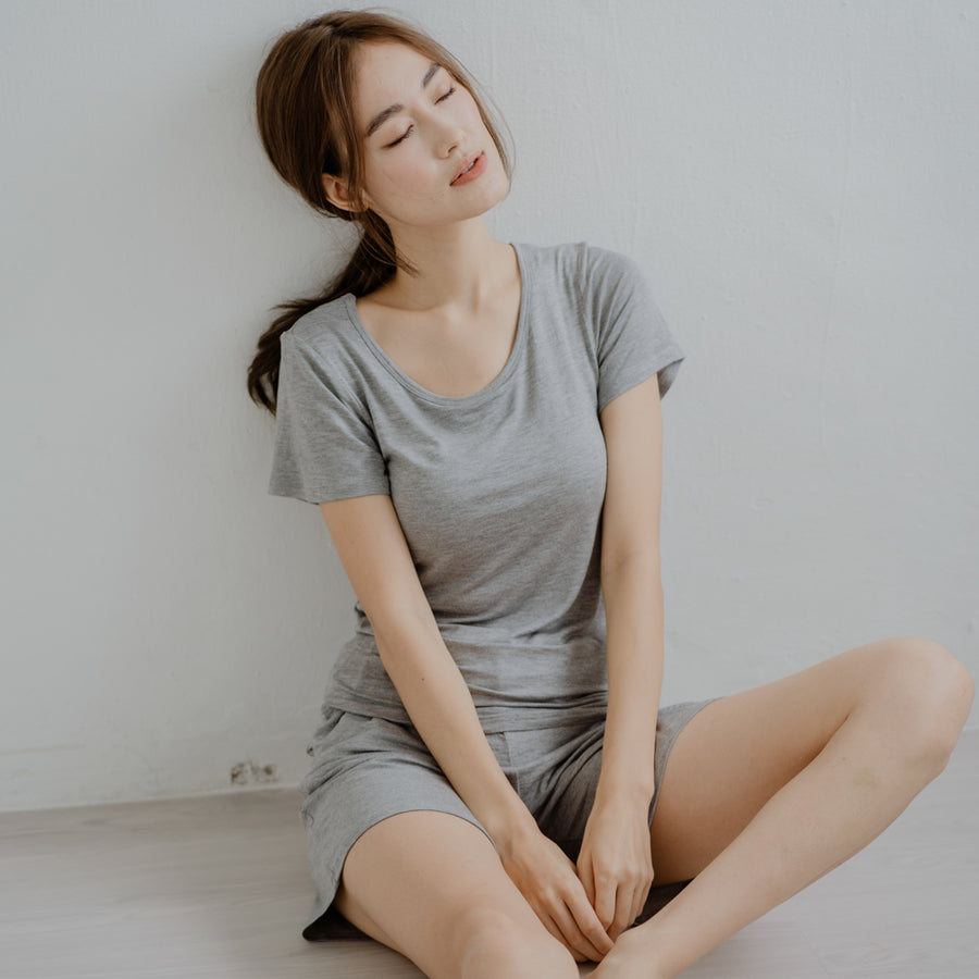 Everyday Bra-less Loungewear set (Modal® Fabric) in Gray
