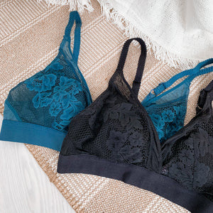 Modern Edge Bralette in Teal