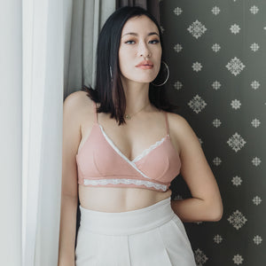All-Day Comfort Lace Bralette V2.0 In Warm Blush