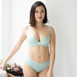 OOMPH!Velvet-Matte Seamless Bikini Cheeky in Tiffany