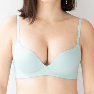 *RESTOCKED* OOMPH! Velvet-Matte Teardrop 2-Way Wireless Push Up Bra in Tiffany