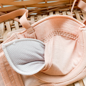 Elegant Romance! Convertible Push Up Bra in Sandstone
